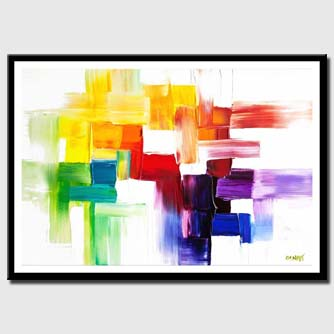 canvas print of modern colorful abstract painting