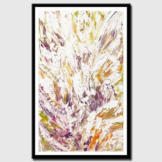canvas print of modern floral abstract painting palette knife