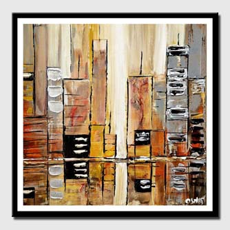 canvas print of silver city abstract painting