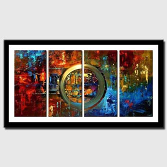 canvas print of modern colorful painting multi panel decor