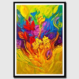 canvas print of huge colorful abstract painting