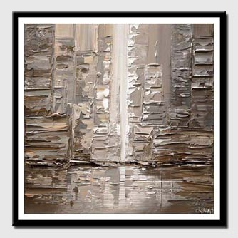 canvas print of contemporary abstract city painting