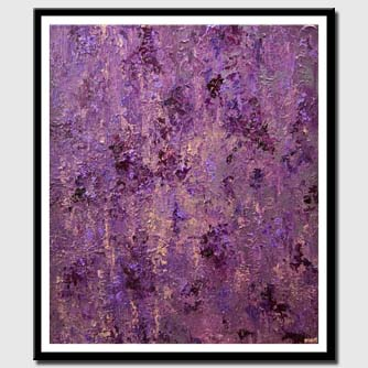 canvas print of modern purple textured abstract art