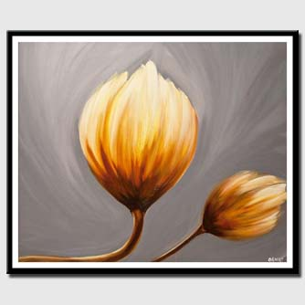 canvas print of yellow tulips painting