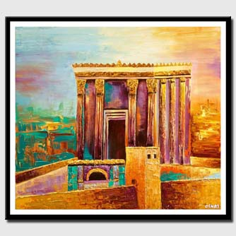 canvas print of Beit Hamikdash painting