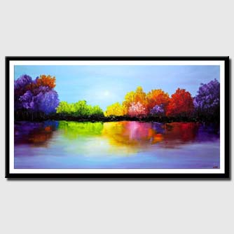 canvas print of heaven painting colorful landscape painting