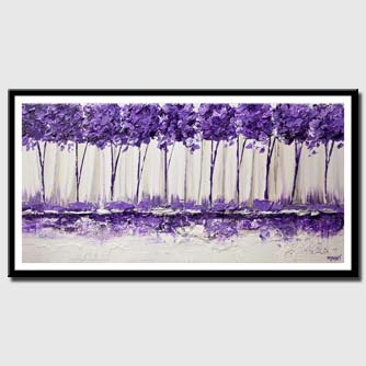 canvas print of purple landscape palette knife painting