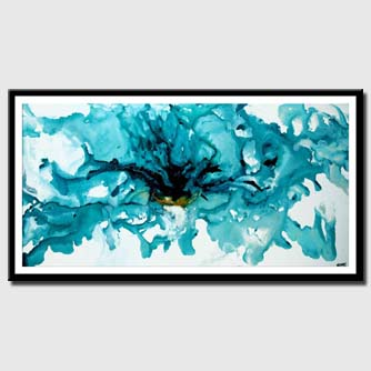 canvas print of teal abstract art