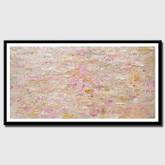 canvas print of big textured soft abstract painting
