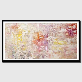 canvas print of modern textured white abstract art
