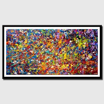 canvas print of modern-colorful-textured-abstract-art