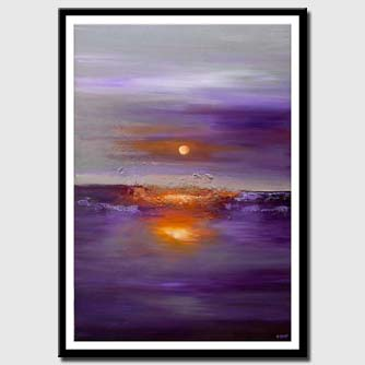 canvas print of modern large purple abstract art