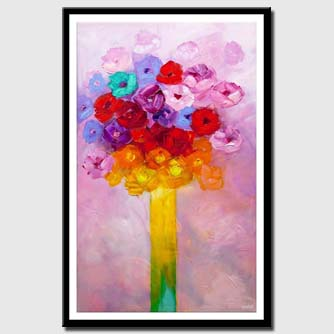 canvas print of colorful floral abstract painting