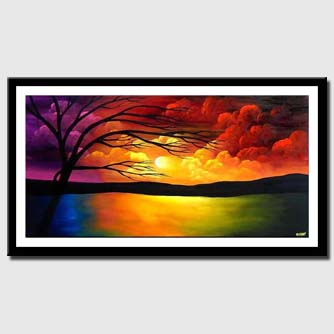 canvas print of sunrise painting