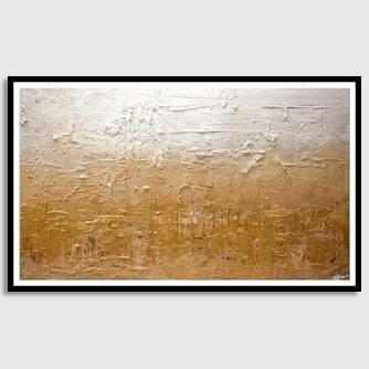 canvas print of golden abstract painting