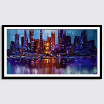 canvas print of enormous contemporary abstract painting